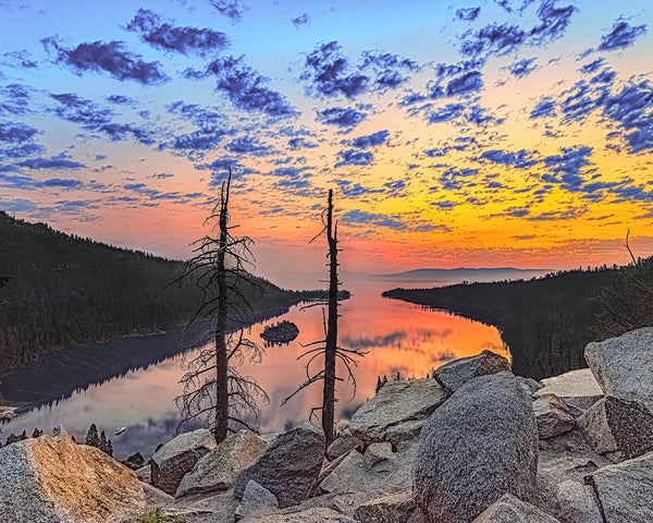 Emerald Bay Sunrise, Lake Tahoe, California Standard Art Print