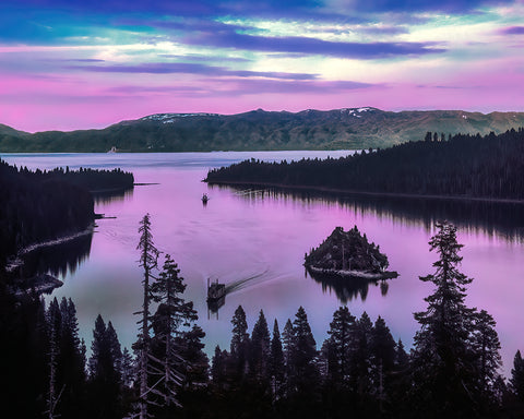 Emerald Bay Afterglow, Lake Tahoe, California Standard Art Print