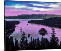Emerald Bay Afterglow, Lake Tahoe, California Canvas