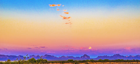 Full Moon Arizona Sky, Panoramic and Standard Format
