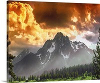 Grand Tetons Sunset, Grand Tetons National Park, Wyoming Canvas