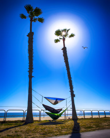 Hammock Time Surf City Metal Print
