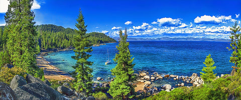 Hidden Beach Panoramic, Lake Tahoe, Nevada