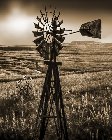 High Plains Vertical Metal Print