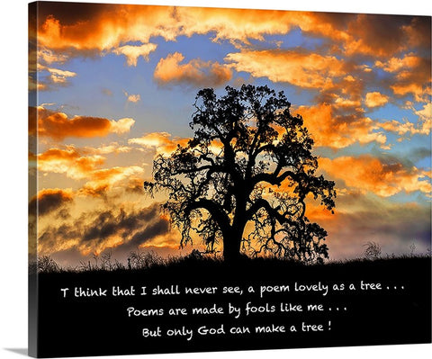 But Only God Can Make a Tree Canvas