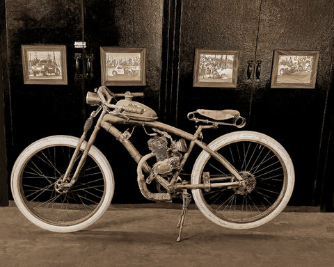 Indian Motorcycle Sepia Standard Art Print