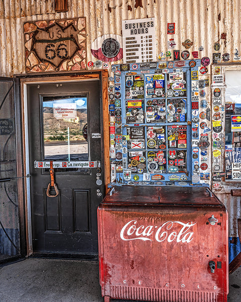 Coca Cola and Route 66, Hackberry, AZ Standard Art Print