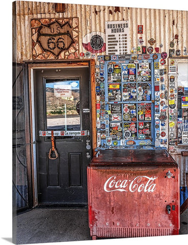 Coca Cola and Route 66, Hackberry, AZ Canvas