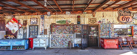 General Store, Route 66, Hackberry, Arizona Panoramic Metal Print