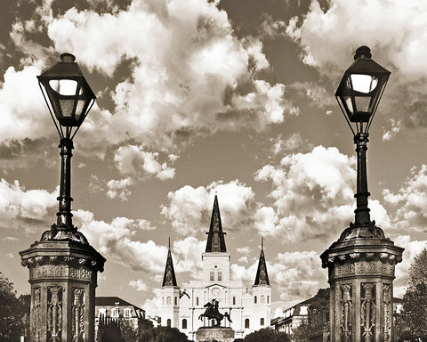 Jackson Square Sepia, New Orleans, Louisiana