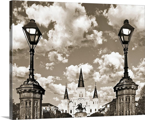 Jackson Square Sepia, New Orleans Canvas