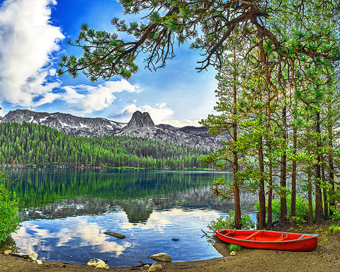 I Canoe, Do You? Eastern Sierras, California Standard Art Print