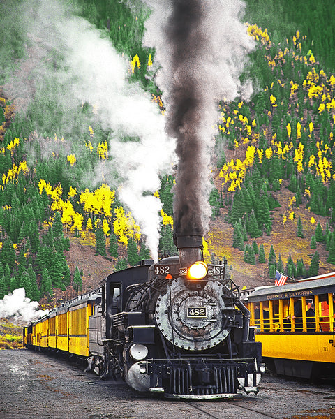 Locomotive to the Past, Durango-Silverton RR, Colorado Metal Print