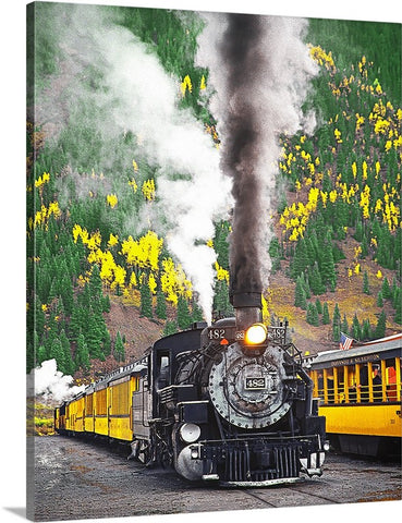 Locomotive to the Past, Durango-Silverton RR, Colorado Canvas