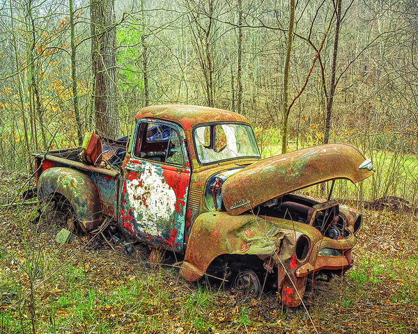 Love the Rust, Chevy Truck Metal Print