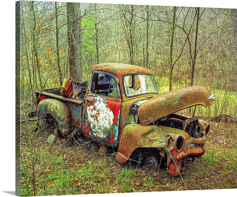 Love the Rust, Chevy Truck Canvas