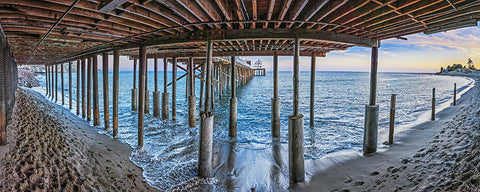 Malibu Pier, California Panoramic Metal Print