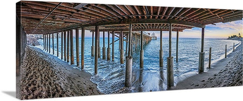 Malibu Pier, California Panoramic Canvas