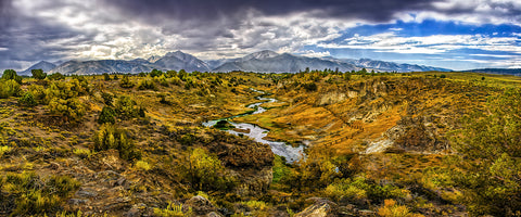 Hot Creek, Eastern Sierras, California Panoramic