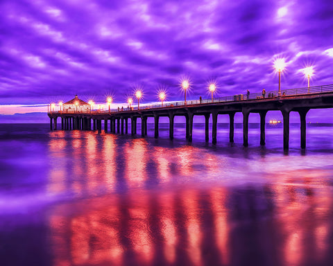 Manhattan Beach Pier Sunset, California