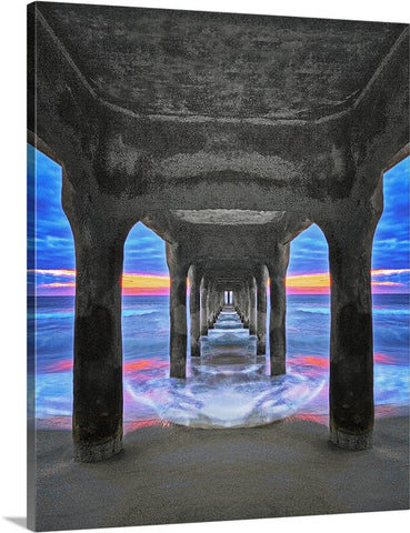 Manhattan Beach Pier Vertical Canvas