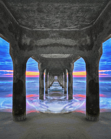 Manhattan Beach Pier Vertical Standard Art Print