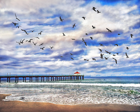 Manhattan Beach Pier Sunrise, California