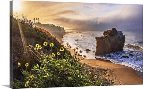 El Matador Bluffs Sunrise Panoramic, Malibu, California Canvas