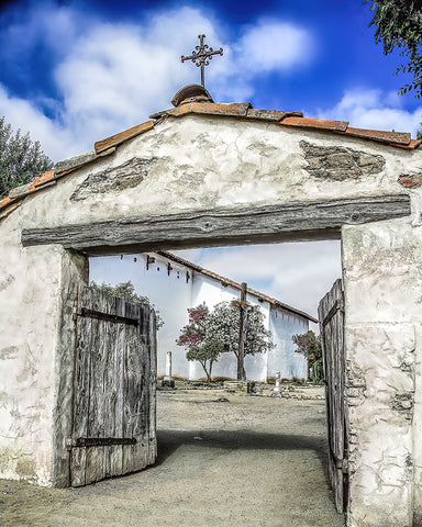 Mission San Miguel Cross and Gate, California