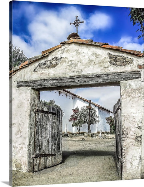 Mission San Miguel Cross and Gate Canvas