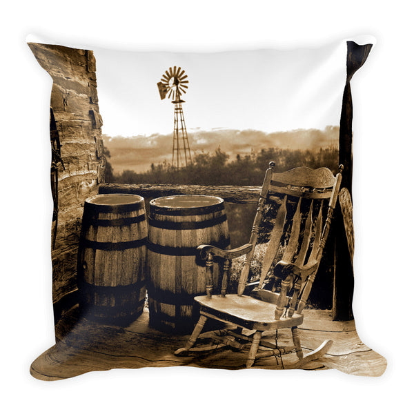 Peace at Last Square Throw Pillow
