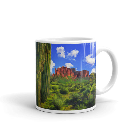 Superstition Mountains and Full Moon Mug