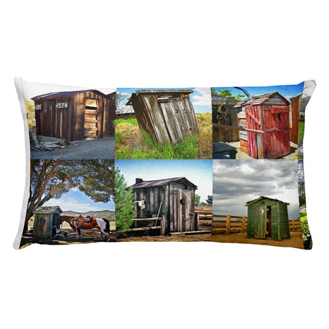 Outhouse Collection Rectangular Throw Pillow