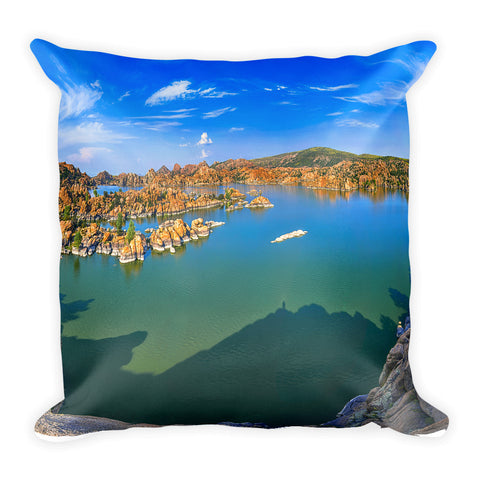 Watson Lake Square Throw Pillow