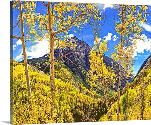 Mountains of Gold, Rocky Mountains Canvas
