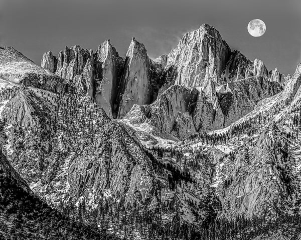 Blowing Snow, Mt Whitney High Sierras Standard Art Print