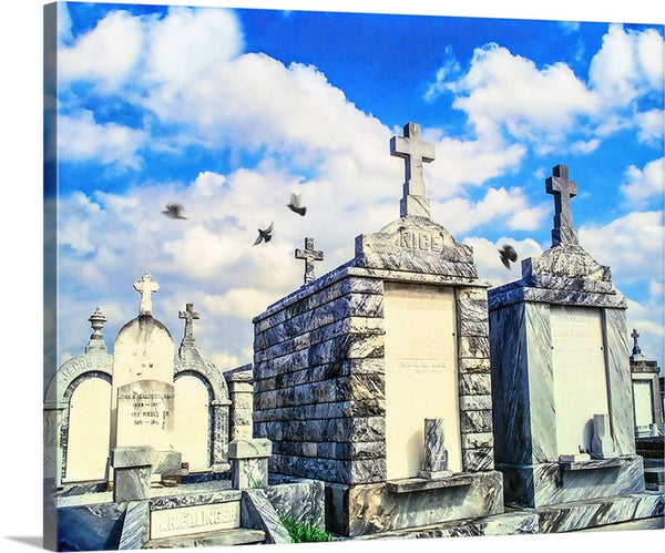 Testaments To Time, New Orleans Spanish Vaults Canvas