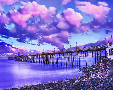 Oceanside Pier, Sunrise, Full Moon California