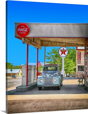 Old Truck and a Coke Canvas