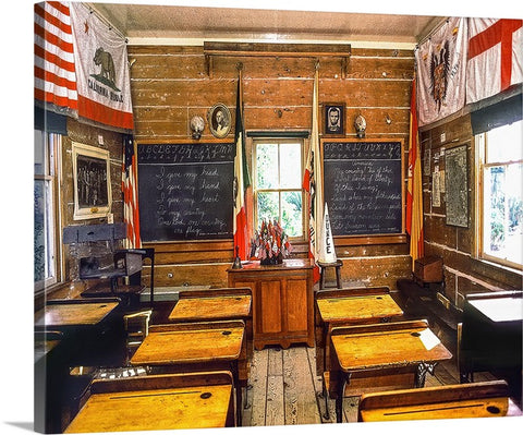 Ole Schoolhouse Canvas