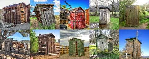 Outhouse Horizontal Color Collection Metal Print