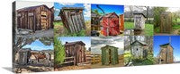 Outhouse Horizontal Color Collection Panoramic Canvas