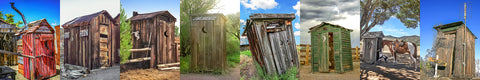 Outhouses Color Skinny Collection Metal Print