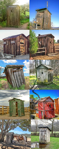 Outhouse Vertical Color Collection