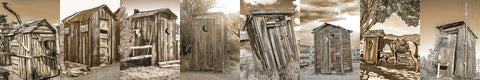 Outhouses Sepia Skinny Collection Standard Art Print
