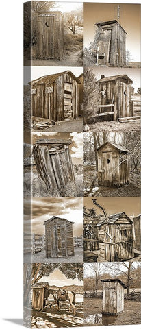 Outhouse Vertical Sepia Collection  Canvas