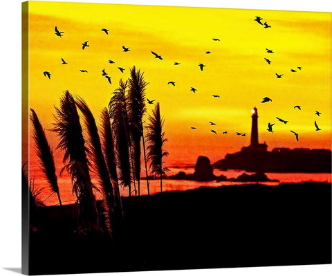 Pigeon Point Lighthouse Sunset Canvas