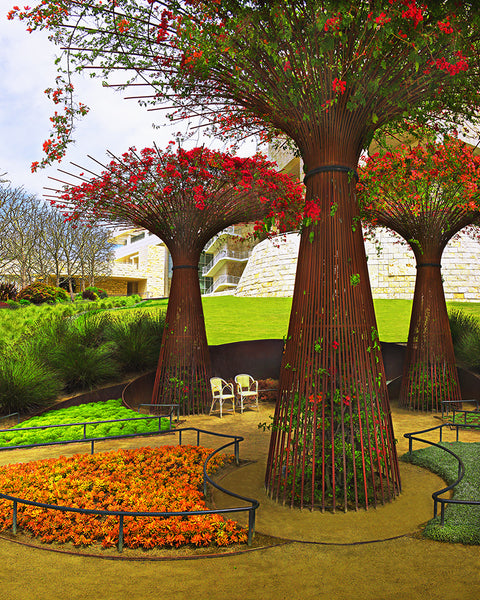 Getty Center Places to Sit Standard Art Print