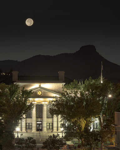 Prescott Courthouse and Thumb Butte, Arizona