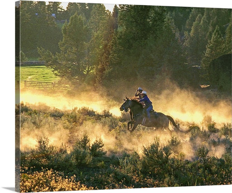 Race at the Ranch Canvas